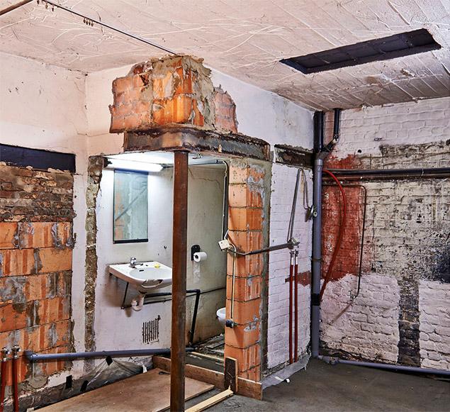 Rozrobená kúpeľna